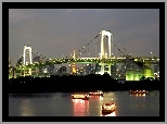 Most, Rainbow Bridge, Tokio, Japonia